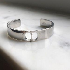 Rare Dior CD Icon Silver Cuff Bracelet